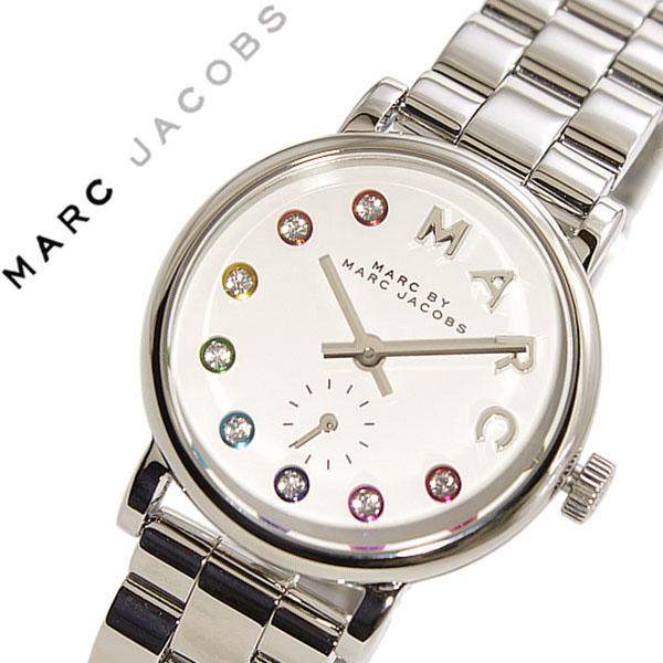 マークバイマークジェイコブス 腕時計[MARCJACOBS 時計]マーク バイ マークジェイコブス 時計[MARC BY MARCJACOBS 腕時計]ベイカー Baker レディース ホワイト MBM3423 [人気 新作 ブランド グリッツ シルバー マルチ カラー クリスタル]