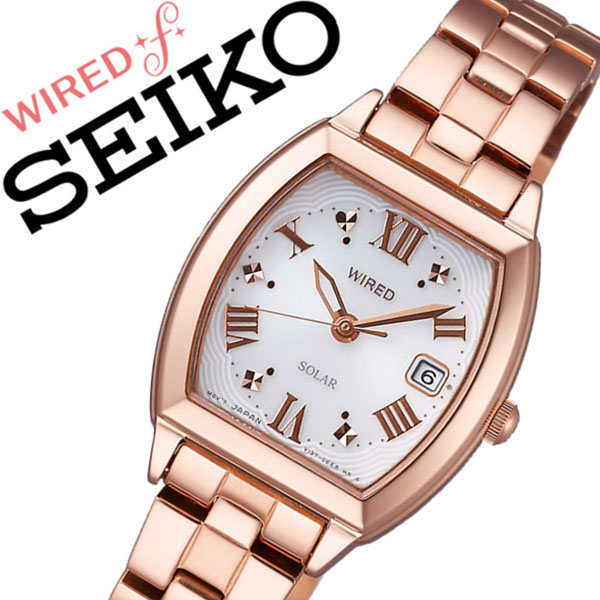 [当日出荷] 【5年保証対象】ワイアードエフ腕時計 WIREDf時計 WIRED f 腕時計 ワイアード エフ 時計 レディース ホワイト AGED077 メタル ベルト 正規品 ソーラー ワイヤード SEIKO シルバー ローズ ゴールド 送料無料