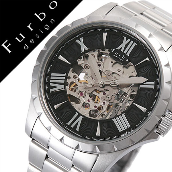 【5年保証対象】フルボデザイン 腕時計 Furbodesign 時計 フルボ デザイン 時計 Furbo design 腕時計 自動巻き 腕時計 機械式 腕時計 メンズ ブラック F5021BKSS 人気 新作 ブランド 防水 ステンレス ベルト 機械式 自動巻き 自動巻 スケルトン シルバー 父の日 ギフト