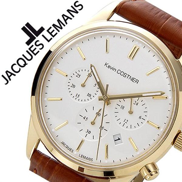 ジャックルマン 腕時計[JACQUESLEMANS 時計]ジャック ルマン 時計[JACQUES LEMANS 腕時計] ケビン コスナー コレクション シグネチャー KEVIN COSTNER COLLECTION JALKC-103B [ブランド 革 ベルト レザー ゴールド][ギフト バーゲン プレゼント ご褒美][おしゃれ 腕時計]