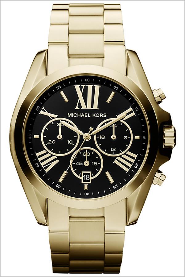 マイケルコース 腕時計 MICHAELKORS 時計 マイケル コース 時計 MICHAEL KORS 腕時計 MK腕時計 MK時計 ブラッドショー Bradshaw メンズ レディース ブラック MK5739 MK 新作 人気 ブランド 防水 メタル ベルト ゴールド プレゼント ギフト