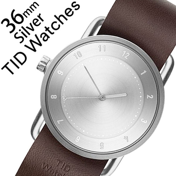 [ティッドウォッチズ]ティッドウォッチ 腕時計[TIDWatches 時計]ティッド ウォッチ 時計[TID Watches 腕時計] TIDNo. 2 レディース シルバー TID02-SV36-W [革 ベルト おしゃれ 正規品 替え 北欧 アナログ ダーク ブラウン シルバー 通販]