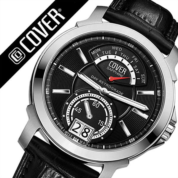 コヴァー 腕時計[COVER 時計]コヴァー 時計[COVER 腕時計]コヴァー腕時計 ガルディアン GARDIEN ブラック CO14003 [コバー スイス 人気 ブランド 防水 革 ベルト レザー レア 通販][ギフト バーゲン プレゼント ご褒美][おしゃれ 腕時計]