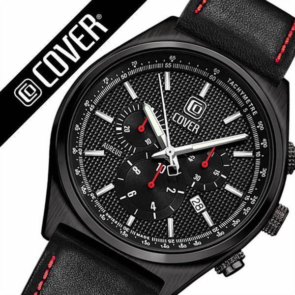 コヴァー 腕時計[COVER 時計]コヴァー 時計[COVER 腕時計]コヴァー腕時計 アウレウス AUREUS ブラック CO16507 [コバー スイス 人気 ブランド 防水 革 ベルト レザー レア 通販][ギフト バーゲン プレゼント ご褒美][おしゃれ 腕時計]