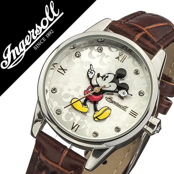 インガソール ミッキー 腕時計 INGERSOLL MICKEY 時計 ディズニー 時計 Disney 腕時計 インガソールミッキー INGERSOLLMICKEY ディズニー時計 メンズ レディース DIN005SLTN 革 ベルト クラシック タイム コレクション クリスタル ストーン