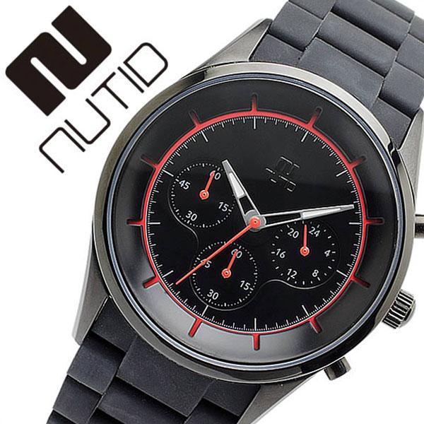 ヌーティッド 腕時計 NUTID 時計 ヌーティッド 時計 NUTID 腕時計 クレーター CRATER メンズ ブラック N-1404P-B 正規品 デザイナーズウォッチ ファッション デザイン 人気 新作 流行 ブランド 防水 シリコン ラバー ステンレス レッド プレゼント 父の日 ギフト
