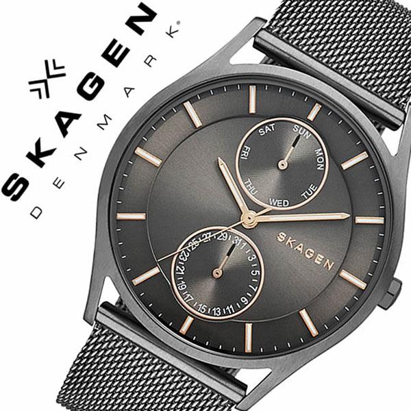 スカーゲン SKAGEN 腕時計 スカーゲン 時計 SKAGEN 時計 スカーゲン 腕時計 ホルスト Holst メンズ レディース グレー SKW6180 人気 新作 流行 ブランド 防水 革 ベルト レザー 北欧 薄型 プレゼント ギフト 送料無料