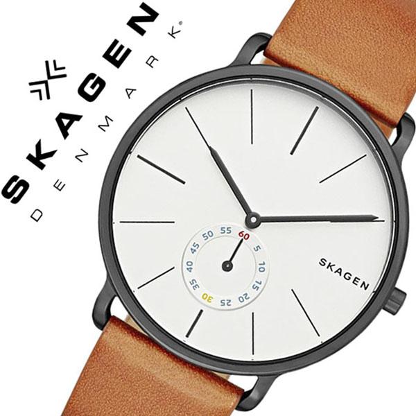 スカーゲン SKAGEN 腕時計 スカーゲン 時計 SKAGEN 時計 スカーゲン 腕時計 ハーゲン Hagen メンズ レディース ホワイト SKW6216 人気 新作 流行 ブランド 防水 革 ベルト レザー 北欧 薄型 ブラウン プレゼント ギフト 送料無料