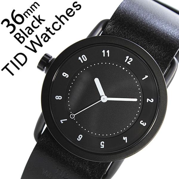 ティッドウォッチ腕時計 TIDWatches時計 TID Watches 腕時計 ティッド ウォッチ 時計 TIDNo. 1 レディース ブラック TID01-BK36-BK [革 ベルト 正規品 おしゃれ 防水 替え 北欧 アナログ ホワイト][ギフト プレゼント ご褒美][おしゃれ腕時計]
