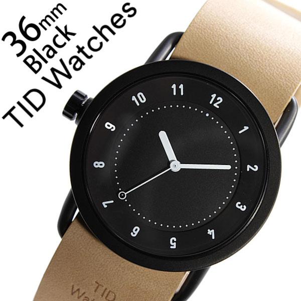 ティッドウォッチ腕時計 TIDWatches時計 TID Watches 腕時計 ティッド ウォッチ 時計 TIDNo. 1 レディース ブラック TID01-BK36-N [革 ベルト 正規品 おしゃれ 防水 替え 北欧 アナログ ベージュ ブラウン ホワイト][プレゼント ギフト]