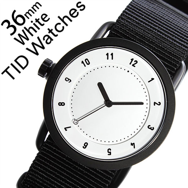 【5年保証対象】 ティッドウォッチズ ティッドウォッチ 腕時計 TIDWatches 時計 ティッド ウォッチ 時計 TID Watches 腕時計 TIDNo. 1 レディース ホワイト TID01-WH36-NBK NATO ベルト おしゃれ インスタ モデル 通販 北欧 ペア ブラック ナトー 送料無料