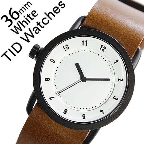 【5年保証対象】 ティッドウォッチズ ティッドウォッチ 腕時計 TIDWatches 時計 ティッド ウォッチ 時計 TID Watches 腕時計 TIDNo. 1 レディース ホワイト TID01-WH36-T 革 ベルト おしゃれ インスタ モデル 通販 北欧 ペア ブラウン ブラック 送料無料