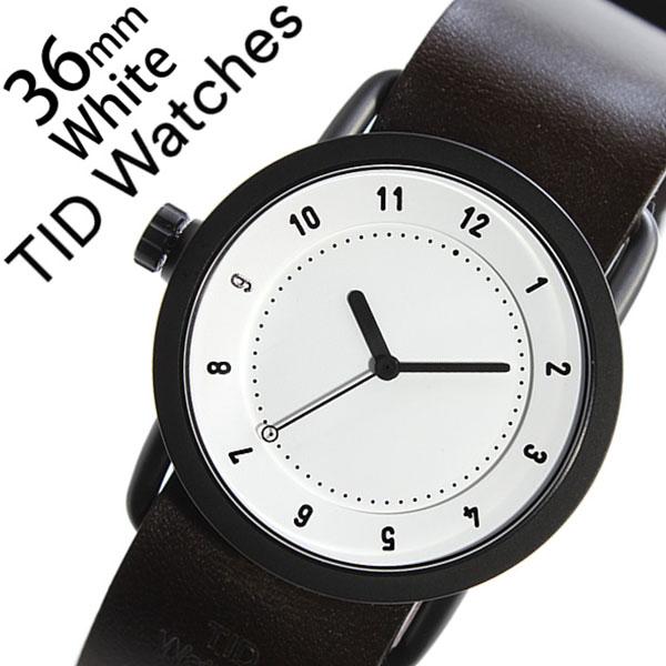 [当日出荷] 【5年保証対象】 ティッドウォッチズ ティッドウォッチ 腕時計 TIDWatches 時計 ティッド ウォッチ 時計 TID Watches 腕時計 TIDNo. 1 レディース ホワイト TID01-WH36-W 革 ベルト おしゃれ インスタ モデル 通販 北欧 ペア ダーク ブラウン ブラック 送料無料