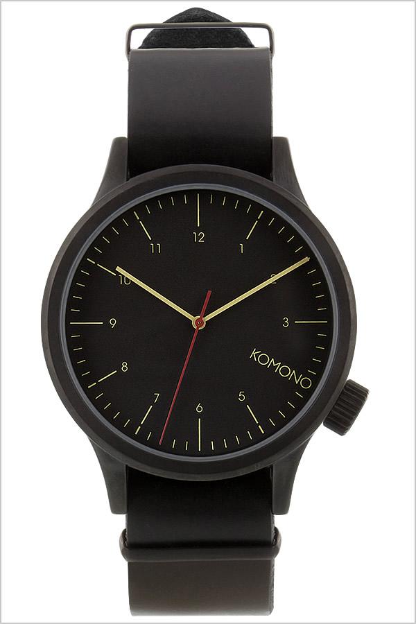 コモノ 腕時計 KOMONO時計 KOMONO 腕時計 コモノ 時計 マグナス MAGNUS メンズ レディース ブラック KOM-W1900 [人気 新作 ブランド トレンド 革 ベルト レザー ベルギー ヨーロッパ 海外][ご褒美][おしゃれ 腕時計]