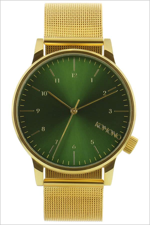 コモノ 腕時計 KOMONO時計 KOMONO 腕時計 コモノ 時計 ウィンストン ロイヤル WINSTON ROYALE メンズ レディース グリーン KOM-W2355 [人気 新作 ブランド トレンド メタル ベルト シンプル ゴールド ベルギー ヨーロッパ 海外][ご褒美][おしゃれ 腕時計]