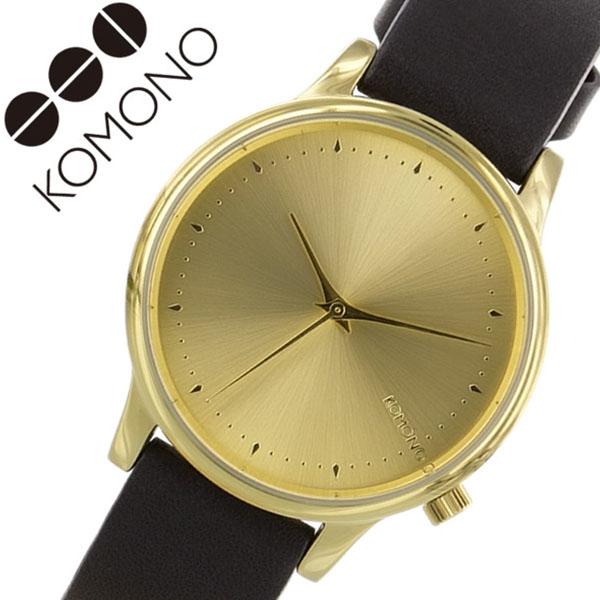 コモノ 腕時計 KOMONO時計 KOMONO 腕時計 コモノ 時計 エステール ESTELLE レディース ゴールド KOM-W2453 [人気 新作 ブランド トレンド 革 ベルト レザー ブラック ベルギー ヨーロッパ 海外][ご褒美][おしゃれ 腕時計]