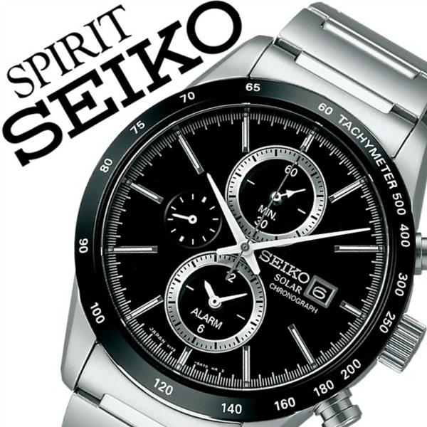 【5年保証対象】セイコー腕時計 SEIKO時計 SEIKO 腕時計 セイコー 時計 スピリット スマート SPIRIT SMART メンズ ブラック SBPY119 メタル ベルト ソーラー クロノグラフ 正規品 防水 シルバー プレゼント 父の日 ギフト