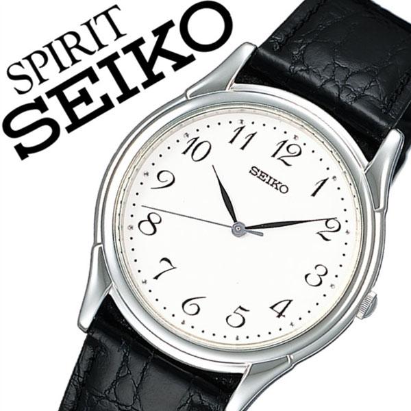 【5年保証対象】セイコー腕時計 SEIKO時計 SEIKO 腕時計 セイコー 時計 スピリット SPIRIT メンズ ホワイト SBTB005 革 ベルト 正規品 防水 ブラック シルバー プレゼント