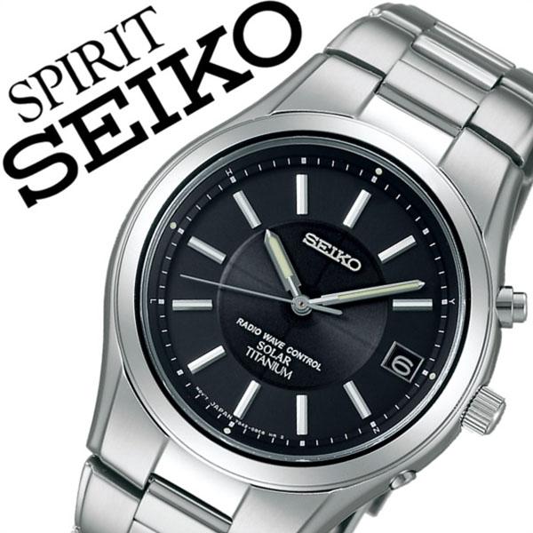 【5年保証対象】セイコー腕時計 SEIKO時計 SEIKO 腕時計 セイコー 時計 スピリット SPIRIT メンズ ブラック SBTM193 メタル ベルト 正規品 防水 ソーラー 電波 シルバー チタン モデル プレゼント ギフト 送料無料