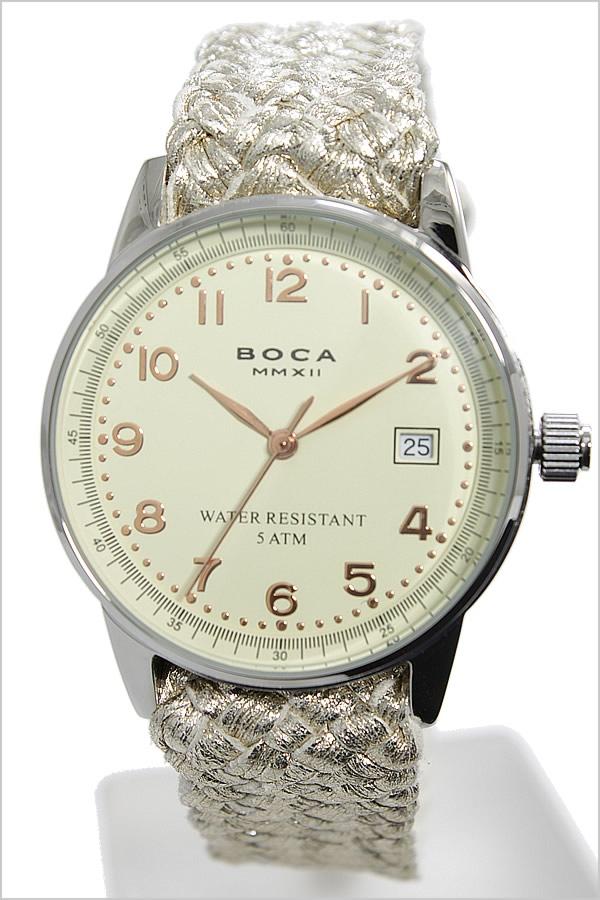 ボカ腕時計 BOCAMMX時計 BOCA MMX 腕時計 ボカ 時計 トラベラー TRAVELER メンズ レディース ユニセックス 男女兼用 ホワイト [革 ベルト カーフ 正規品 ベージュ シルバー ローズ ゴールド][バーゲン プレゼント ギフト][おしゃれ 腕時計]