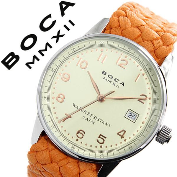 ボカ腕時計 BOCAMMX時計 BOCA MMX 腕時計 ボカ 時計 トラベラー TRAVELER メンズ レディース ユニセックス 男女兼用 ホワイト [革 ベルト カーフ 正規品 ベージュ シルバー ローズ ゴールド オレンジ][バーゲン プレゼント ギフト][おしゃれ 腕時計]