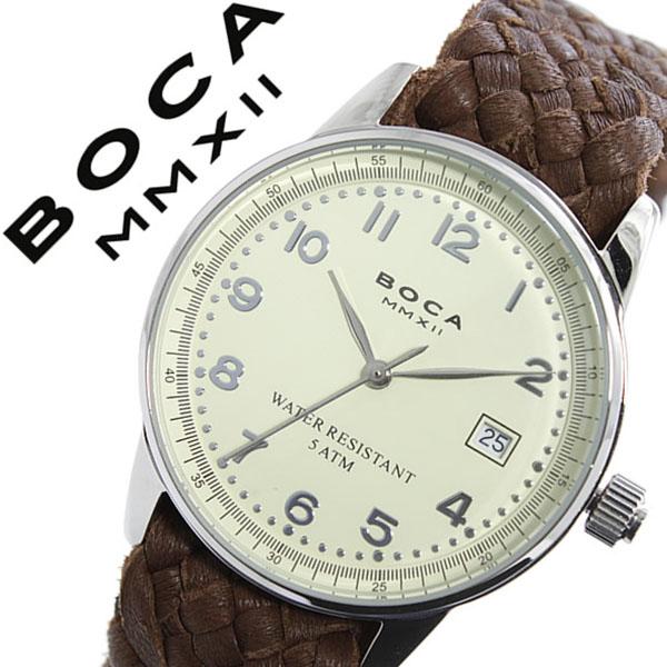 ボカ腕時計 BOCAMMX時計 BOCA MMX 腕時計 ボカ 時計 トラベラー TRAVELER メンズ レディース ユニセックス 男女兼用 ホワイト [革 ベルト カーフ 正規品 ベージュ シルバー ブラウン][バーゲン プレゼント ギフト][おしゃれ 腕時計]