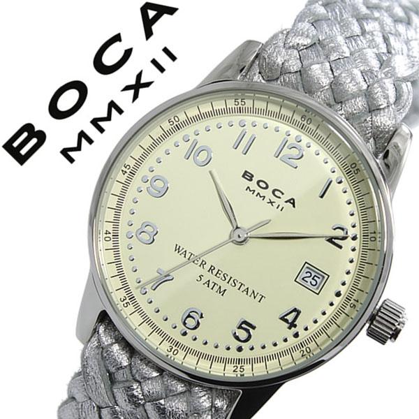 ボカ腕時計 BOCAMMX時計 BOCA MMX 腕時計 ボカ 時計 トラベラー TRAVELER メンズ レディース ユニセックス 男女兼用 ホワイト [革 ベルト カーフ 正規品 ベージュ シルバー][バーゲン プレゼント ギフト][おしゃれ 腕時計]