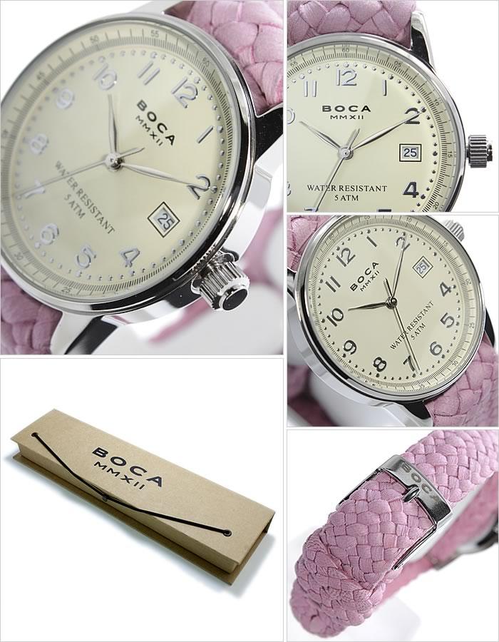 ボカ腕時計 BOCAMMX時計 BOCA MMX 腕時計 ボカ 時計 トラベラー TRAVELER メンズ レディース ユニセックス 男女兼用 ホワイト [革 ベルト カーフ 正規品 ベージュ シルバー ピンク][バーゲン プレゼント ギフト][おしゃれ 腕時計]