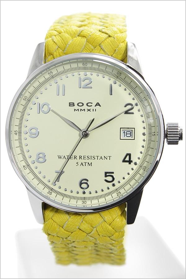 ボカ腕時計 BOCAMMX時計 BOCA MMX 腕時計 ボカ 時計 トラベラー TRAVELER メンズ レディース ユニセックス 男女兼用 ホワイト [革 ベルト カーフ 正規品 ベージュ シルバー イエロー][バーゲン プレゼント ギフト][おしゃれ 腕時計]