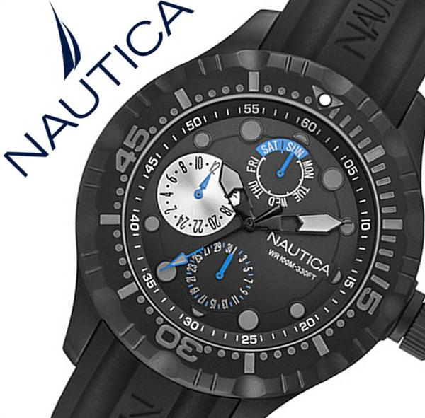 ノーティカ腕時計 NAUTICA時計 NAUTICA 腕時計 ノーティカ 時計 メンズ ブラック A16681G [正規品 腕時計 ウォッチ 人気 新作 ブランド トレンド シリコン ベルト][バーゲン プレゼント ギフト][おしゃれ 腕時計]