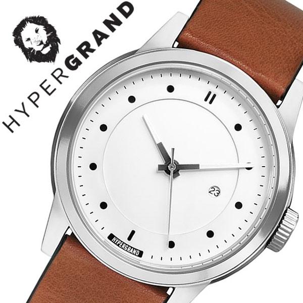 ハイパーグランド 腕時計 HYPERGRAND 時計 ハイパー グランド 時計 HYPER GRAND 腕時計 マーベリック シリーズ クラシック レザー MAVERICK SERIES CLASSIC LEATHER メンズ レディース CW3H4SWHNY 人気 ブランド レザー ベルト 革 ブラウン シルバー 北欧 父の日 ギフト