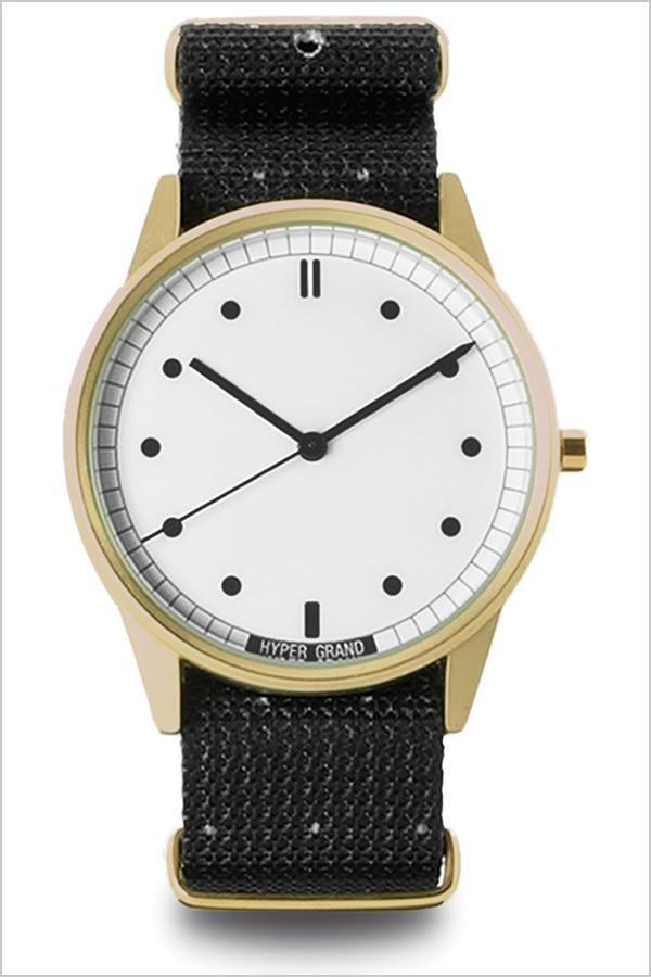 ハイパーグランド [HYPER GRAND時計]( HYPER GRAND 腕時計 ハイパーグランド 時計 ) ゼロワン ナトー ( 01NATO ) メンズ レディース 腕時計 ホワイト NWH2BIGY [正規品 人気 ブランド トレンド ナイロン ベルト ゴールド ブラック バーゲン プレゼント ギフト][おしゃれ]