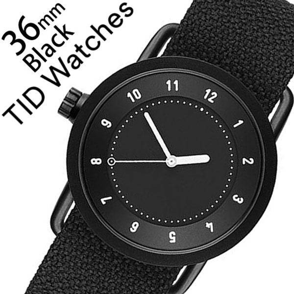 ティッドウォッチズ 腕時計 メンズ レディース 男女兼用 [TID watches] ブラック TID01-BK36-COAL [No.1 正規品 おしゃれ 北欧 シンプル 革 レザー バンド ブラック][クリスマス ギフト][プレゼント ギフト][おしゃれ腕時計]