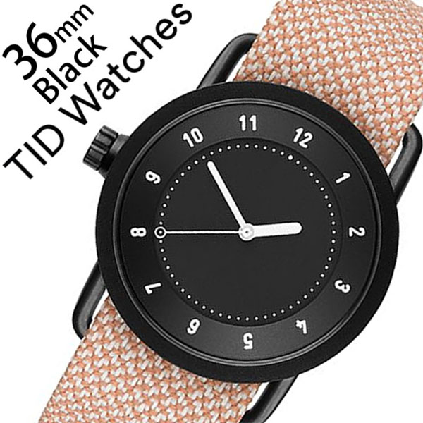 ティッドウォッチズ 腕時計 メンズ レディース 男女兼用 [TID watches] ブラック TID01-BK36-SALMON [No.1 正規品 おしゃれ 北欧 シンプル 革 レザー バンド ブラック][クリスマス ギフト][プレゼント ギフト][おしゃれ腕時計]