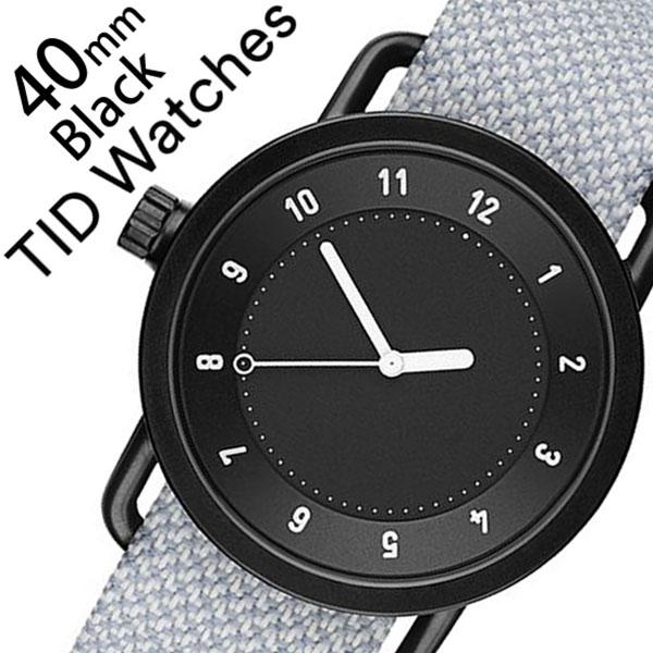 ティッドウォッチズ 腕時計 メンズ レディース 男女兼用 [TID watches] ブラック TID01-BK40-MINERAL [No.1 正規品 おしゃれ 北欧 シンプル 革 レザー バンド ブラック][クリスマス ギフト][プレゼント ギフト][おしゃれ腕時計]
