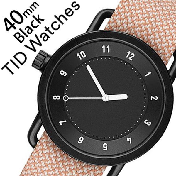 ティッドウォッチズ 腕時計 メンズ レディース 男女兼用 [TID watches] ブラック TID01-BK40-SALMON [No.1 正規品 おしゃれ 北欧 シンプル 革 レザー バンド ブラック][クリスマス ギフト][プレゼント ギフト][おしゃれ腕時計]