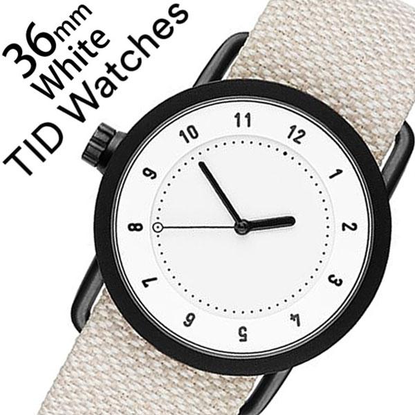 ティッドウォッチズ 腕時計 メンズ レディース 男女兼用 [TID watches] ホワイト TID01-WH36-SAND [No.1 正規品 おしゃれ 北欧 シンプル 革 レザー バンド ホワイト][クリスマス ギフト][プレゼント ギフト][おしゃれ腕時計][新生活 入学 卒業 社会人]