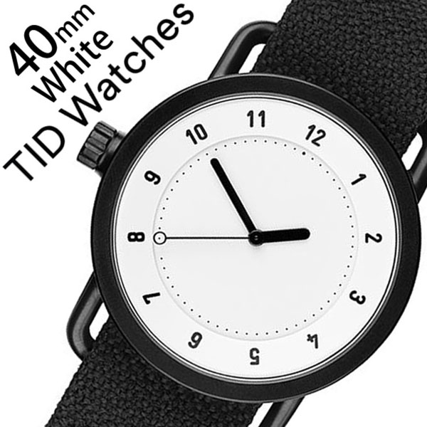 ティッドウォッチズ 腕時計 メンズ レディース 男女兼用 [TID watches] ホワイト TID01-WH40-COAL [No.1 正規品 おしゃれ 北欧 シンプル 革 レザー バンド ホワイト][クリスマス ギフト][プレゼント ギフト][おしゃれ腕時計]