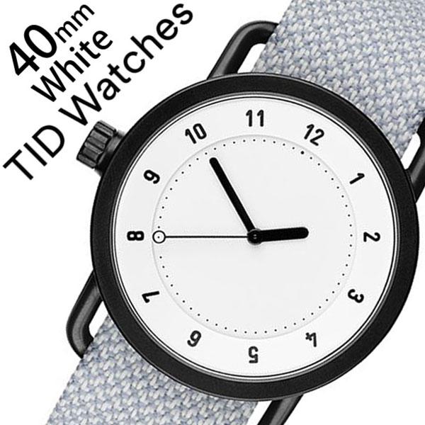 ティッドウォッチズ 腕時計 メンズ レディース 男女兼用 [TID watches] ホワイト TID01-WH40-MINERAL [No.1 正規品 おしゃれ 北欧 シンプル 革 レザー バンド ホワイト][クリスマス ギフト][プレゼント ギフト][おしゃれ腕時計]