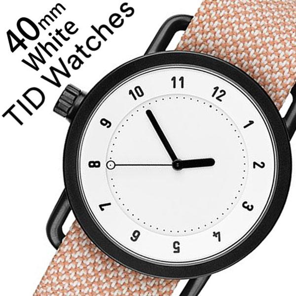 ティッドウォッチズ 腕時計 メンズ レディース 男女兼用 [TID watches] ホワイト TID01-WH40-SALMON [No.1 正規品 おしゃれ 北欧 シンプル 革 レザー バンド ホワイト][クリスマス ギフト][プレゼント ギフト][おしゃれ腕時計]