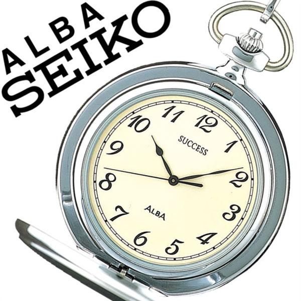 セイコーアルバ 懐中時計 [SEIKOALBA 懐中時計]セイコー 懐中時計[SEIKO 懐中時計]セイコー アルバ懐中時計[SEIKO ALBA懐中時計]メンズ レディース ユニセックス ホワイト AABW149 [懐中時計 正規品 クォーツ シルバー サクセス チェーン メタル クリーム]