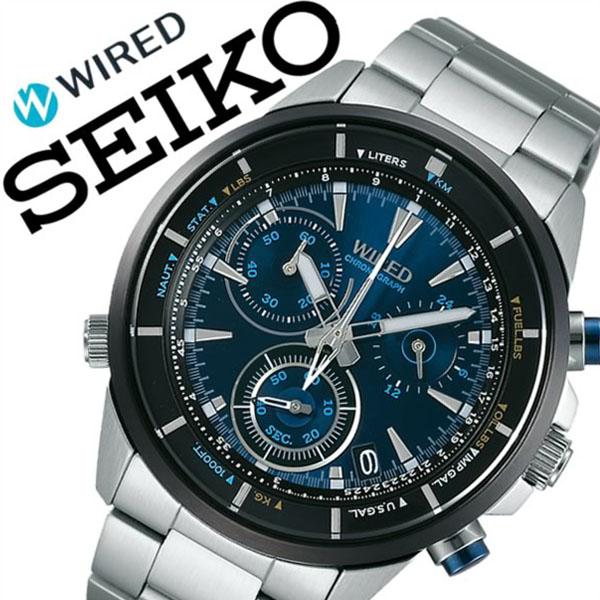 セイコー ワイアード 腕時計[SEIKO WIRED 時計]ワイアード 時計[WIRED 腕時計]ワイアード ブルー[WIRED BLUE]メンズ ブルー AGAW441 [新作 正規品 ワイヤード ブランド SEIKO メタル ベルト 防水 シルバー][バーゲン プレゼント ギフト][おしゃれ 腕時計]