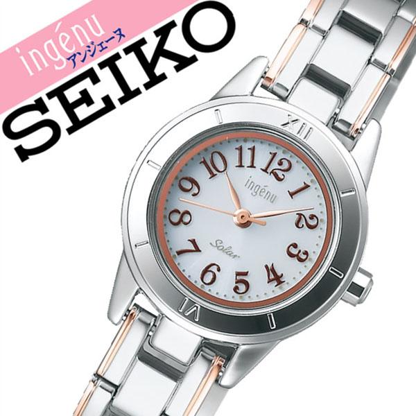 【延長保証対象】セイコー アルバ アンジェーヌ 腕時計 SEIKO ALBA ingene 時計 セイコーアルバ アルバアンジェーヌ albaingene アンジェーン レディース ホワイト AHJD048 メタル ベルト ソーラー シンプル シルバー ローズ ゴールド ピンクゴールド 送料無料