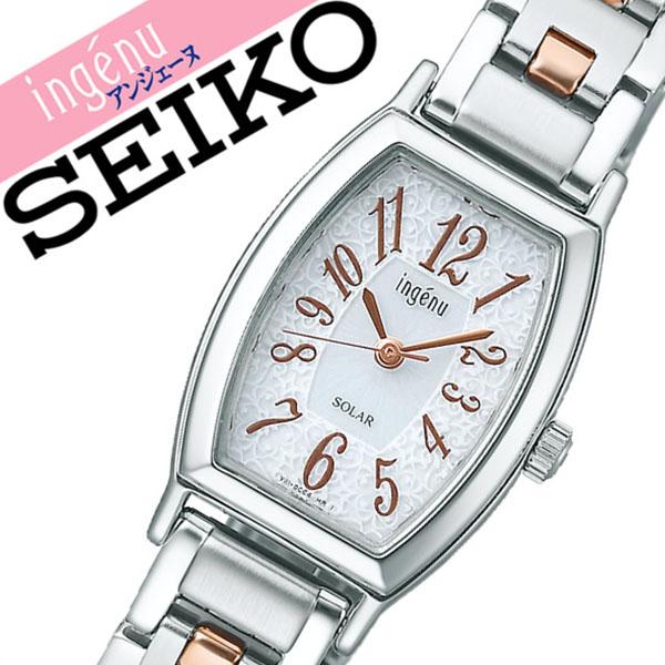 セイコー アルバ アンジェーヌ 腕時計[SEIKO ALBA ingene 時計]セイコー アルバアンジェーヌ 時計[SEIKO ALBAingene 腕時計] レディース ホワイト AHJD052 [メタル ベルト ソーラー シンプル シルバー ローズ ゴールド ピンクゴールド][バーゲン プレゼント ギフト]