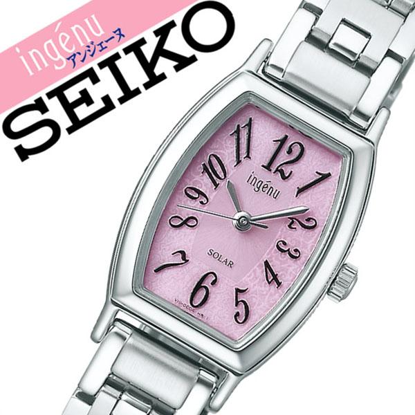 セイコー アルバ アンジェーヌ 腕時計[SEIKO ALBA ingene 時計]セイコー アルバアンジェーヌ 時計[SEIKO ALBAingene 腕時計] レディース ピンク AHJD053 [メタル ベルト ソーラー シンプル シルバー][バーゲン プレゼント ギフト][おしゃれ 腕時計]