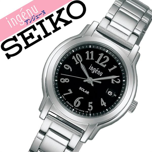 【延長保証対象】セイコー アルバ アンジェーヌ 腕時計 SEIKO ALBA ingene 時計 セイコーアルバ SEIKOALBA アルバアンジェーヌ albaingene アンジェーン レディース ブラック AHJD068 メタル ベルト ソーラー シンプル シルバー 送料無料