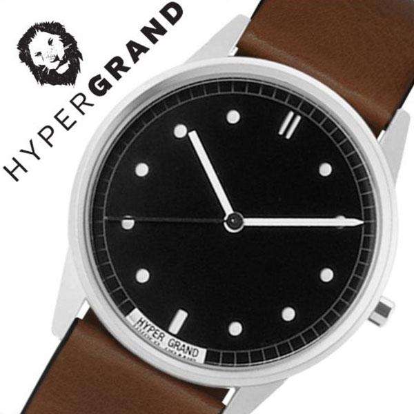 ハイパーグランド 腕時計 HYPERGRAND 時計 ハイパー グランド 時計 HYPER GRAND 腕時計 ゼロワンナトー クラシックレザー 01NATO CLASSIC LEATHER メンズ レディース ブラック CW01SBBRW [ カジュアル ファッション おしゃれ シンガポール 替えベルト時計 ][ 送料無料 ]