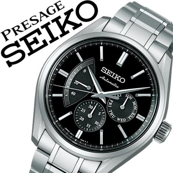 【延長保証対象】セイコー プレザージュ 腕時計 SEIKO PRESAGE 時計 セイコープレザージュ 時計 SEIKOPRESAGE 腕時計 プレザージュ セイコー プレザージュ メンズ レディース ブラック SARW023 メタル ベルト 機械式 自動巻 防水 父の日 ギフト