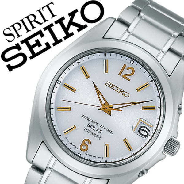 セイコー スピリット 腕時計[SEIKO SPIRIT 時計]セイコースピリット 時計[SEIKOSPIRIT 腕時計]セイコー スピリット時計[SEIKO SPIRIT時計]メンズ ホワイト SBTM227 [スピリッツ メタル ベルト ソーラー 電波 シルバー ゴールド][バーゲン プレゼント ギフト]