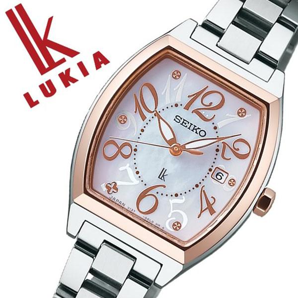 セイコー ルキア SEIKO LUKIA 時計 セイコールキア 腕時計 SEIKOLUKIA ルキア時計 ルキア腕時計 レディース ホワイト SSVN026 ブランド メタル ベルト ソーラー シルバー ピンク ゴールド 送料無料